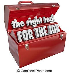 rechts, vaardigheden, werktuig, ervaring, werk, toolbox