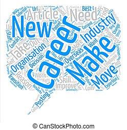 rechts, woord, carrière, tekst, maken, verhuizen, concept, achtergrond, wolk