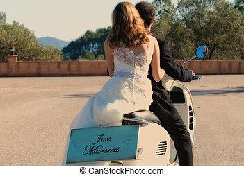 recién casados, pareja