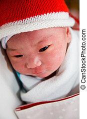 recién nacido, asiático, bebé