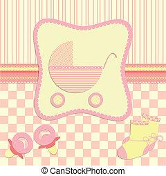recién nacido, tarjeta