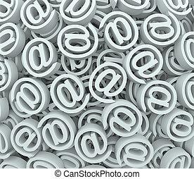 @, recibir, símbolo, mensajes, enviar, señal, plano de fondo...
