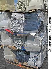 reciclado, monitores computador