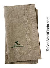 reciclado, papel, servilletas