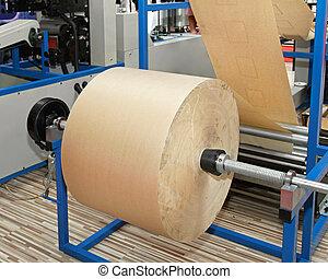 reciclado, rollo de papel