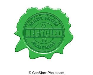 reciclado, selo cera