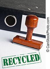 reciclado, selo
