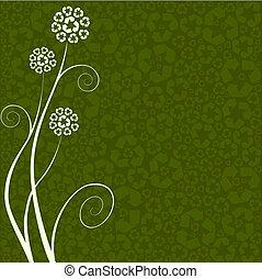 reciclagem, conceito, flor