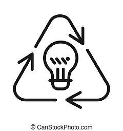 reciclagem, desenho, idéia, ilustração