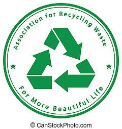 reciclagem, desperdício, associação