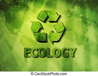 reciclagem, ecológico, conceito