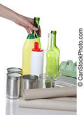 reciclagem, materiais