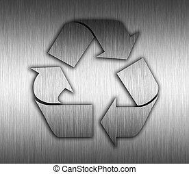 reciclagem, metal, fundo