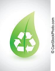 reciclaje, -, ambiental, concepción