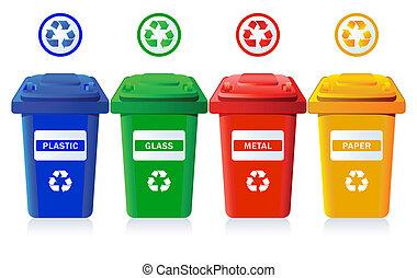 reciclaje, cajones