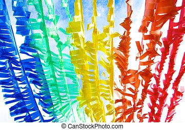 reciclar, 1, plástico, colorido, tira