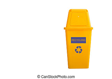 reciclar, aislado, basura