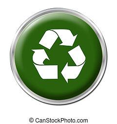 reciclar, botón