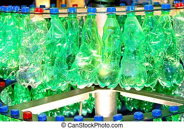 reciclar, botellas, plástico