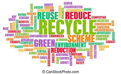 reciclar, concepto