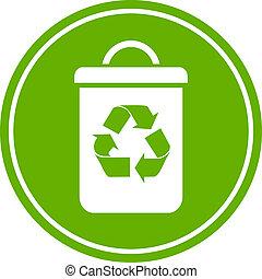 reciclar, cubo de la basura, icono