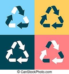 reciclar el símbolo, iconos