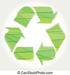 reciclar el símbolo, verde