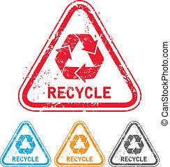 reciclar, estampilla