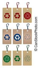 reciclar, etiquetas