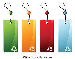 reciclar, etiquetas precio