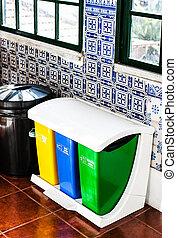 reciclar los compartimientos, colorido, cocina