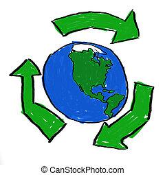 reciclar, mundo