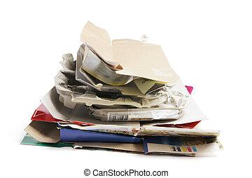 reciclar, papel, productos