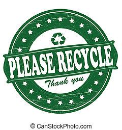 reciclar, por favor
