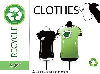 reciclar, por favor, ropa