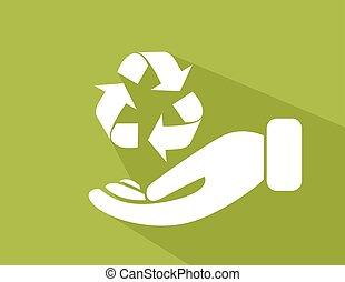 reciclar, protección ambiental, señal