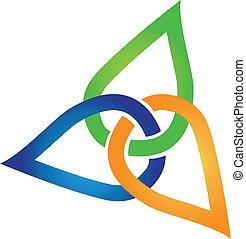 recicle, folheia, logotipo