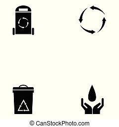 recicle, jogo, ícone
