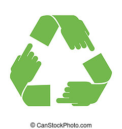 recicle símbolo, vetorial