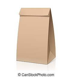 recicle, saco papel marrom