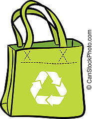 recicle, saco, shopping