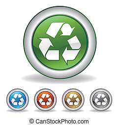 recicle, vetorial, ícone
