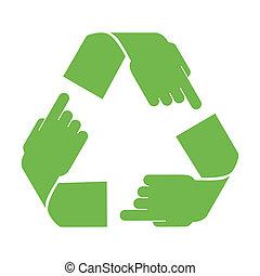 recicle, vetorial, símbolo
