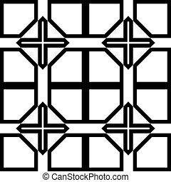 recinto, astratto, croce, elemento, nero, trasparente
