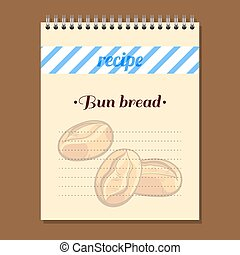 Recipe Book Bun Bread