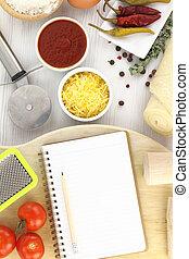 Recipe book for pizza