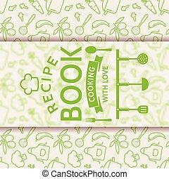 Recipe book. Vector card.