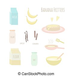 Recipe for making banana fritters.