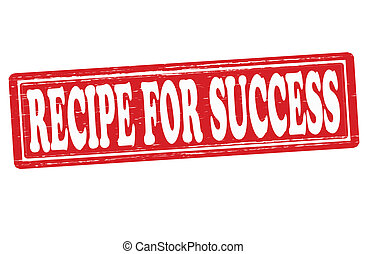 Stamp with text recipe for success inside, vector illustration