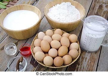 Recipe in preparation thai dessert